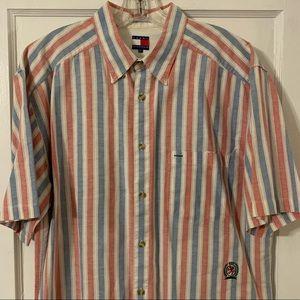 Vintage Tommy Hilfiger Striped Button Down Sz XL